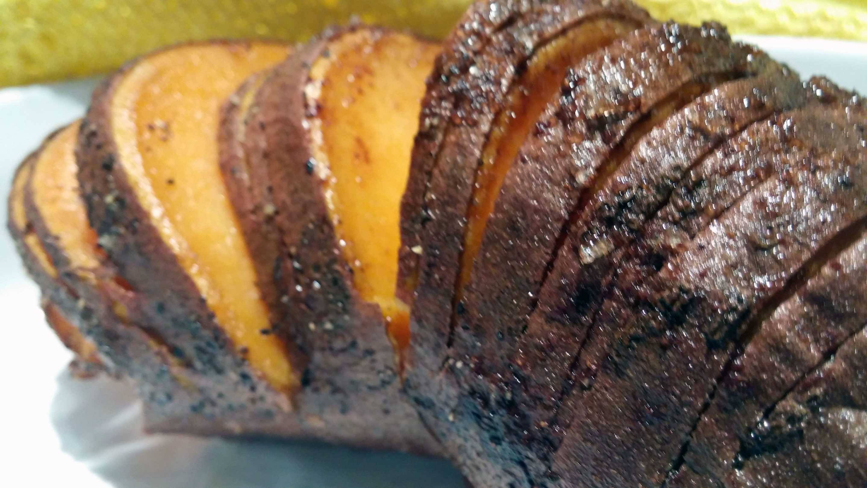 Sweet Hasselback potato