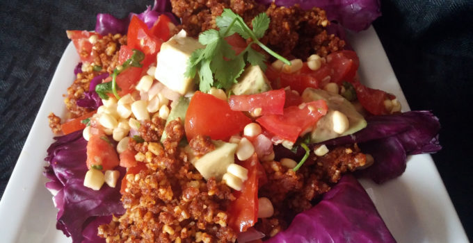 Vegan Taco Salad with Fresh Avocado Corn Salsa